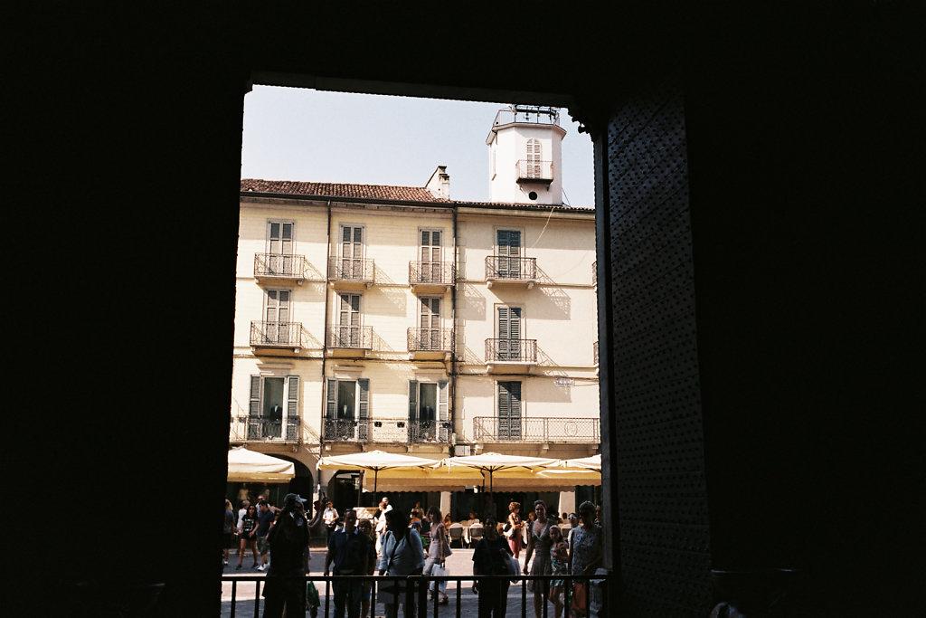 Vue vers la piazza Duomo